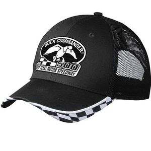 Duck Commander Mesh Hat with Duck Commander 500 Logo Cotton/Polyester One Size Black/White DHDC50001
