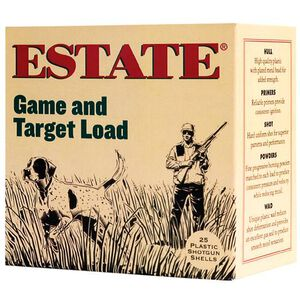 """Estate Cartridge Game and Target 20 Gauge #6 Lead Shot, 2-3/4"""", 7/8 Ounce, 1210 fps 250 Round Case"""
