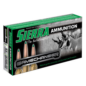 Sierra GameChanger 6.5 Creedmoor Ammunition 20 Rounds 130 Grain Tipped GameKing