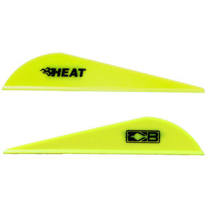 Bohning Blazer Heat Hunting Vanes 6 Grains Synthetic Neon Yellow 36 Pack