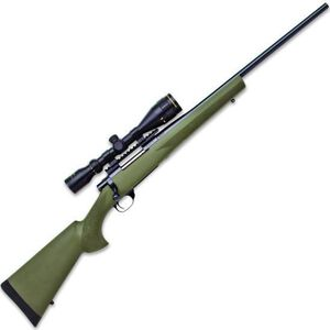 """Howa Hogue Gameking .22-250 Rem Bolt Action Rifle 22"""" Barrel 5 Rounds with 3.5-10x44 Scope OD Green Stock Blued"""