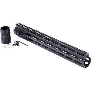 "Wilson Combat LR-308 High Profile MLOK Rail 14.6"" Free-Float Handguard Aluminum Black"