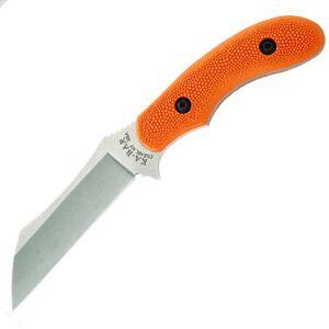 "KA-BAR Johnson Adventure Wharnstalker Fixed 4-3/32"" Plain Wharncliffe Satin Finish 440A Steel Blade Nylon Handle Orange with Sheath 2-5604-2"