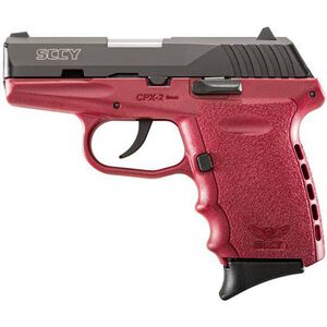 """SCCY Industries CPX-2 Semi Auto Handgun 9mm Luger 3.1"""" Barrel 10 Rounds Red Polymer Frame with Black Nitride Finish CPX-2 CBCR"""