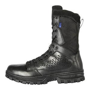 "5.11 Tactical EVO 8"" Waterproof Boot with Sidezip Size 12 Regular Black 12312"