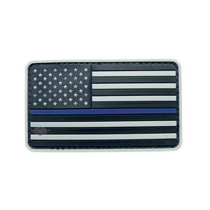 Tru-Spec PVC U.S. Flag Morale Patch Gray and Blue 6781000