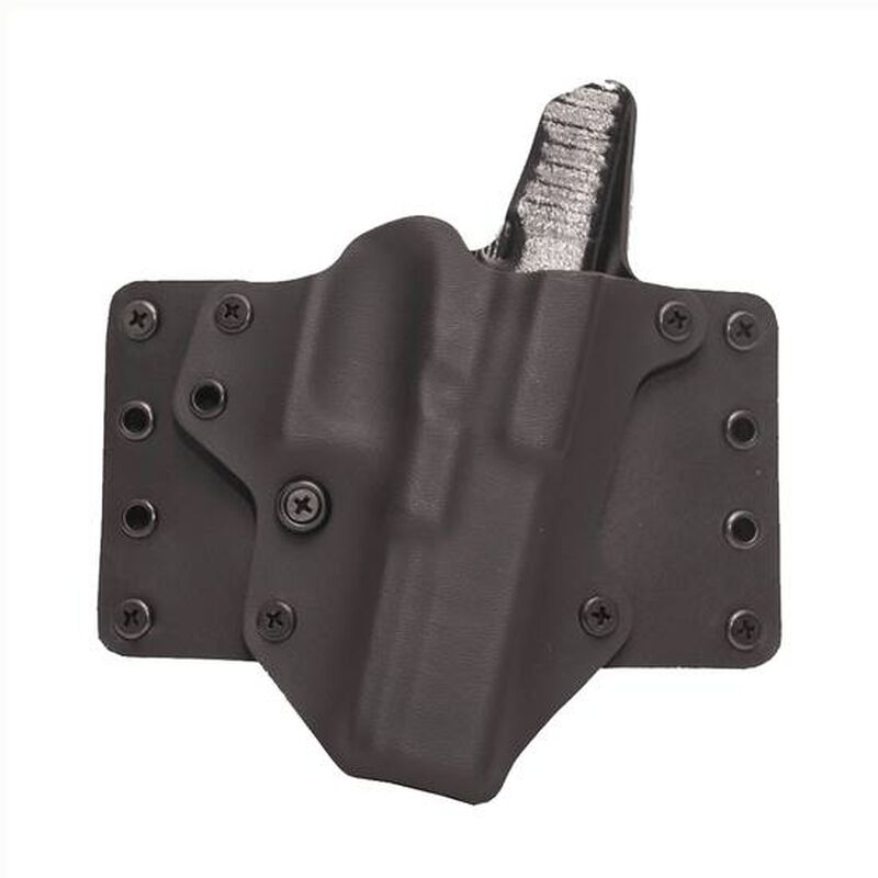 BlackPoint Tactical Leather WING Belt Holster For GLOCK 26/27/33 Right Hand Kydex/Leather Black 100083