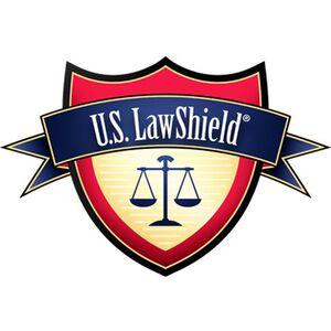 U.S. Law Shield Navy Cotton Screen Printed T-Shirt Short Sleeve