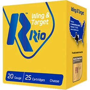 "RIO Ammunition Wing & Target 20 Gauge Ammunition 250 Rounds 2-3/4"" Shell #7.5 Lead Shot 7/8oz 1250fps"