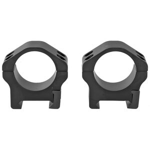 """Warne Maxima Horizontal Fixed Attach Weaver/Picatinny Style Scope Ring 1"""" Tube Low Height Matte Black Finish"""