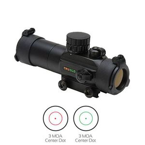 TRUGLO Gobble Stopper 1x30 Red Dot Sight Dual Color Illuminated Matte Black