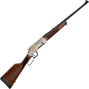 """Henry Long Ranger Deluxe Wildlife Lever Action Rifle 5.56 NATO 20"""" Barrel 5 Rounds with Sights Coyote Engraved Receiver Walnut Stock Nickel/Blued Finish"""