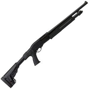 "Charles Daly 300T Pump Tactical 12 Gauge Pump Action Shotgun 18.5"" Barrel 3"" Chamber 5 Rounds Pistol Grip Collapsible Stock Black"