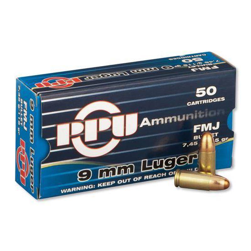 Prvi Partizan PPU 9mm Luger Ammunition 50 Rounds 115 Grain Full Metal Jacket 1145fps