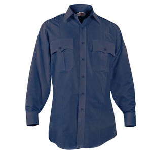 "Elbeco Paragon Plus Men's Long Sleeve Shirt Neck 17.5 Sleeve 33"" Polyester Cotton Midnight Navy"