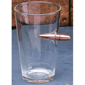 2 Monkeys Lucky Shot 50 Cal Bullet Pint Glass