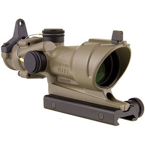 Trijicon ACOG Rifle Scope 4x32 Amber Center Illumination M4Al 5.56/.223 Reticle Forged Aluminum Flat Dark Earth Cerakote Finish TA01-D-100319