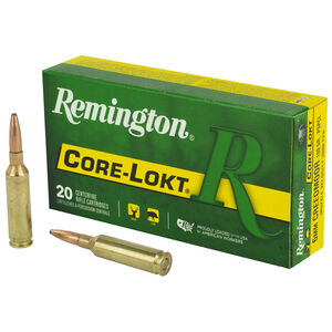 Remington Express 6mm Creedmoor Ammunition 20 Rounds 100 Grain Core-Lokt Pointed Soft Point Projectile