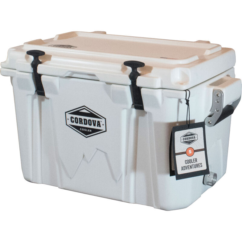 Cordova 35 Small Cooler, 28 Quarts, White