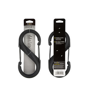 "Nite-ize S-Biner Plastic Double Gated Carabiner #8 Size 7.87""x3.67""x0.58"" Black"