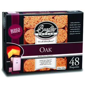 Bradley Smoker Bisquettes Oak 48 Pack BTMP48