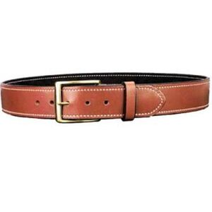 "DeSantis Plain Lined Belt 1-3/4"" Width Size 40 Premium Saddle Leather Suede Lining Tan B09TP40Z0"