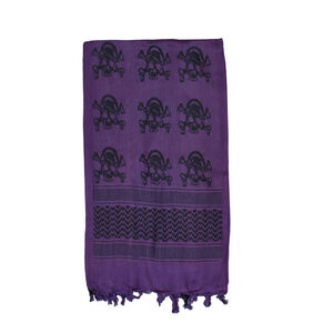 Fox Outdoor Tactical Shemagh Purple With Skulls 79-132