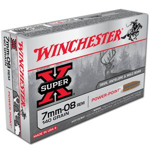 Winchester Super X 7mm-08 Remington Ammunition 20 Rounds JSP 140 Grains X708