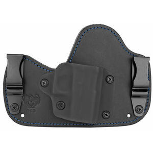 Flashbang Capone Inside the Waistband Holster for GLOCK 43 Right Hand Draw Black Kydex Shell/Black Leather Body/Black Suede Backing