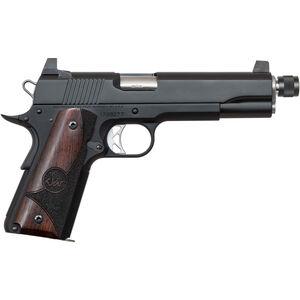 "Dan Wesson 1911 Vigil Suppressor Ready .45 ACP Semi Auto Pistol 5.75"" Barrel 8 Rounds High Front Night Sight/High Rear Sight Wood Grips Forged Aluminum Frame Matte Black Finish"
