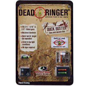 Dead Ringer Duck Buster Shotgun Sights For Ribbed Barrels Mossy Oak Duck Blind Camo Finish DR4348