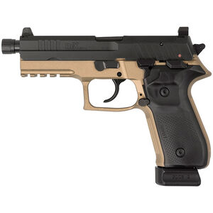 "FIME Group Rex Zero 1T Tactical 9mm Luger Semi Auto Pistol 4.9"" Threaded Barrel 20 Rounds Optics Ready Two Tone Black/FDE"