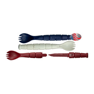 Ka-Bar All American Spork/Knife Pack Red/White/Blue 3 Pack Made from Grilamid