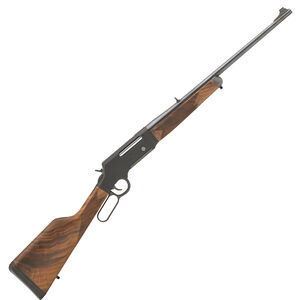 """Henry Long Ranger With Sights Lever Action Rifle 6.5 Creedmoor 22"""" Barrel 4 Rounds Drilled/Tapped Receiver Solid Rubber Recoil Pad American Walnut Stock Blued Finish"""