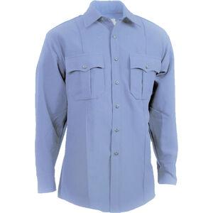 "Elbeco Textrop2 Men's Long Sleeve Shirt Neck 15.5 Sleeve 35"" 100% Polyester Tropical Weave Blue"