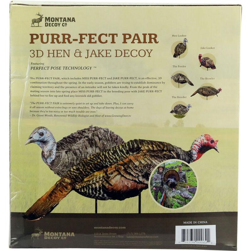 Montana Decoy Co Purr-Fect Pair 3D Hen & Jake Turkey Decoys