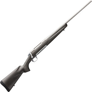 """Browning X-Bolt Stainless Stalker .338 Win Mag Bolt Action Rifle 26"""" Barrel 3 Rounds Matte Gray/Black Composite Stock Matte Stainless Finish"""