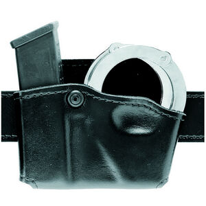 Safariland Model 573 Open Top Magazine and Cuff Pouch Left Hand Fits GLOCK 20/21 Hardshell STX Tactical Black