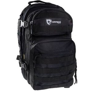 "DRAGO Gear Scout Backpack 16""x10""x10"" 600D Polyester Black 14-305BL"