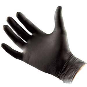 North American Rescue Black Talon Nitrile Medical Gloves Large Tactical Black 50 Pairs 70-0003