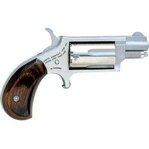 """North American Arms .22 LR/WMR Mini-Revolver 1.13"""" Barrel 5 Rounds Rosewood Grips Stainless Frame and Finish"""