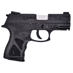 "Taurus TH9c 9mm Luger Semi Auto Pistol 3.5"" Barrel 17 Rounds Thumb Safety Black Polymer Frame Black Slide"