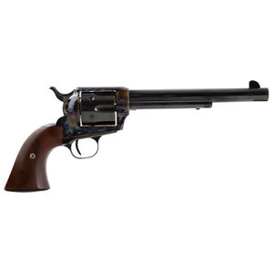 """Standard Manufacturing .45 Long Colt Single Action Revolver 7.5"""" Barrel 6 Rounds Fixed Sights Two Piece Grip Color Case Hardened Frame Blued Finish"""