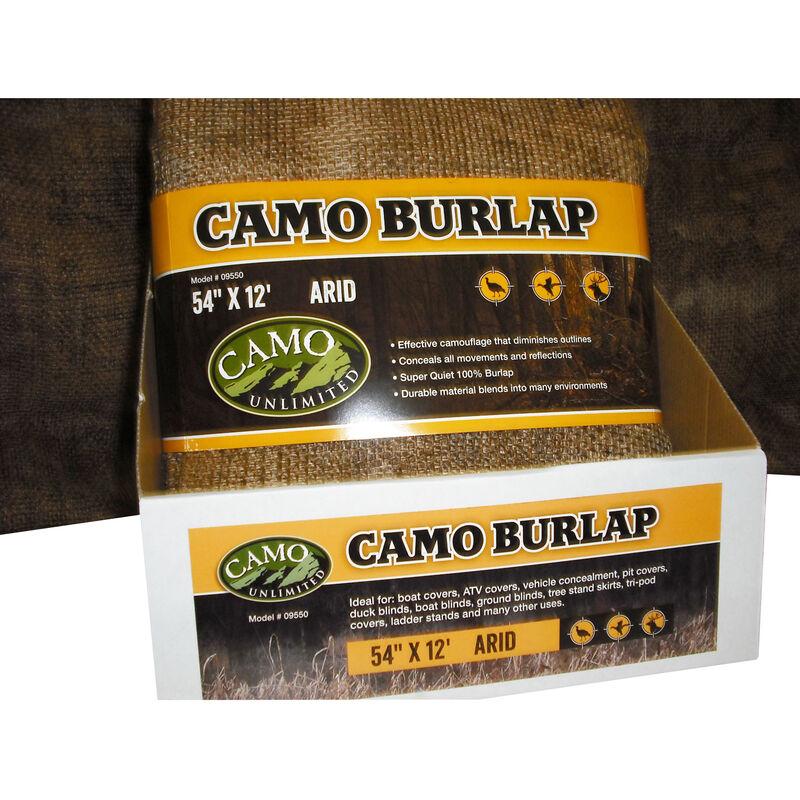 "Camo Unlimited Burlap Fabric 54""x12' Arid Camo"