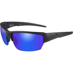 Wiley X Saint Eye Protection Polarized Blue Mirror Lens Matte Black Frame