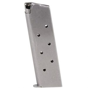 Metalform 1911 Government/Commander Full Size Magazine 10mm Auto 8 Rounds Stainless Steel Construction Natural Finish