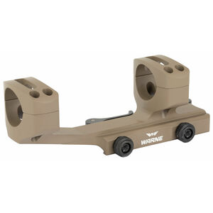 "Warne Scope Mounts Extended SKEL One Piece AR-15 Skeletonized Scope Mount 1"" Tube Diameter Quick Detach System Lightweight 6061 Aluminum Flat Dark Earth Finish"