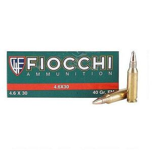 Fiocchi Exacta Match 4.6x30 H&K 40 Grain JSP 50 Round Box