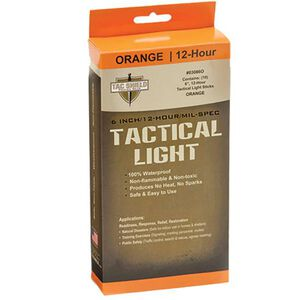 "Tac Shield Tactical Light Stick 6"" Orange 10 Pack"