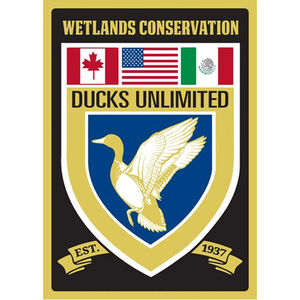 """Open Road Brands """"Ducks Unlimited"""" Embossed Tin Sign with Knock Out 10""""x14"""""""